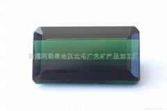新疆绿色长方碧玺裸石(天然)