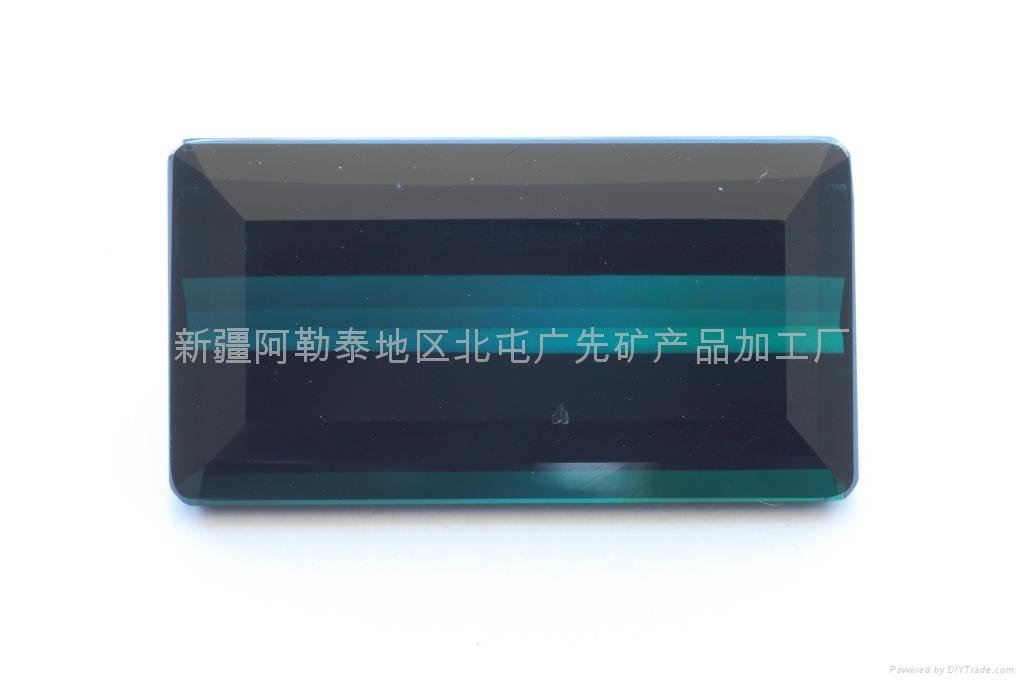 新疆藍色長方碧璽裸石(優品) 1