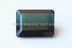 新疆藍色方形碧璽裸石(精品)