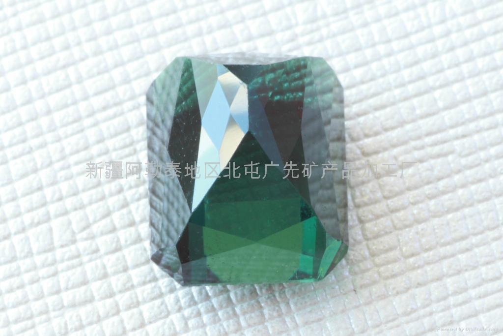(  )新疆藍綠方形碧璽裸石 1
