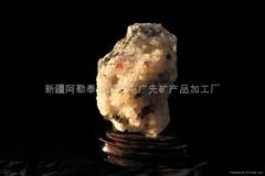 (纯天然)红水晶矿标