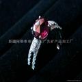 (天然)新疆红碧玺女戒 1