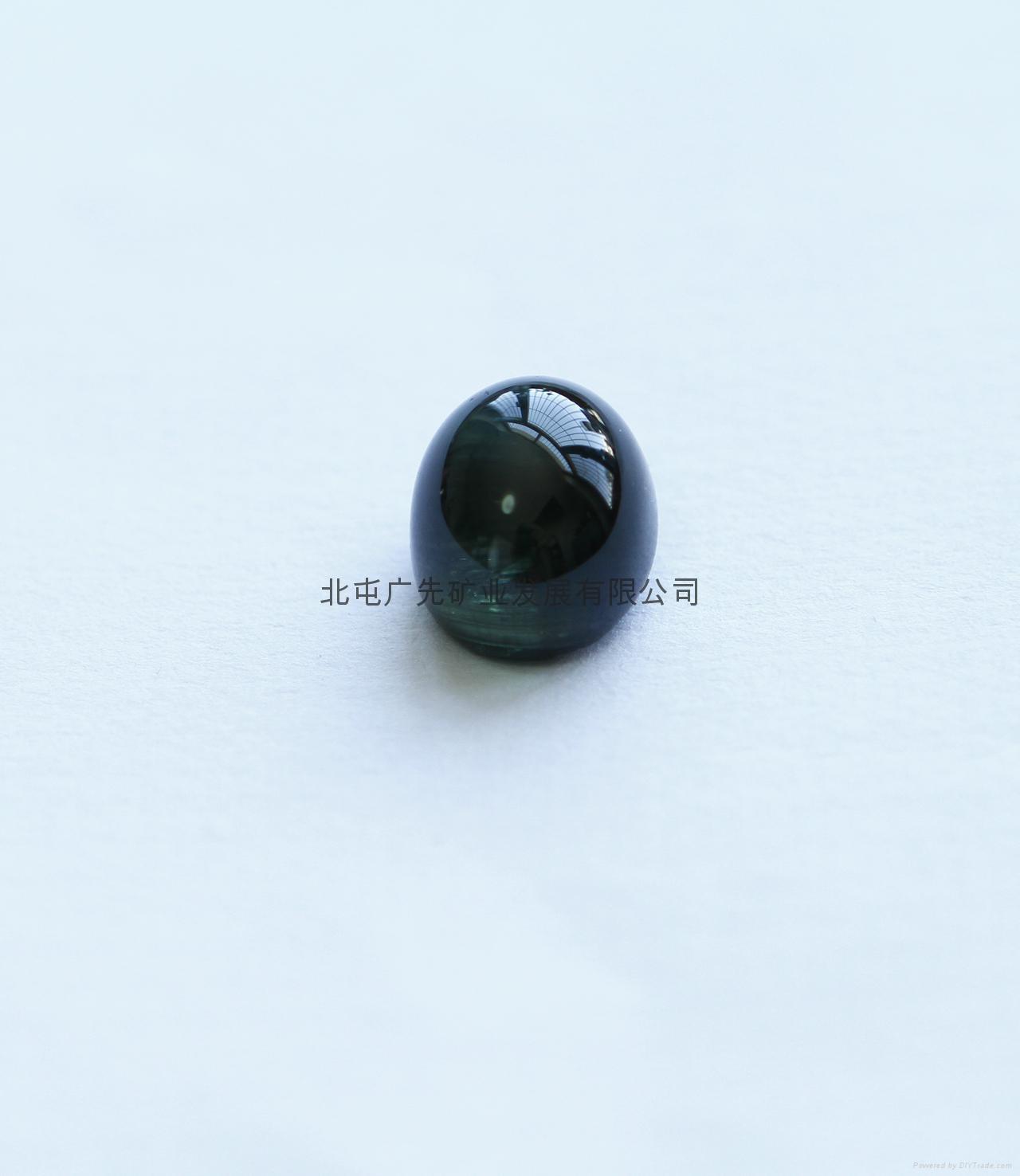 新疆   优质碧玺猫眼裸石(椭圆形)七夕优惠款 2