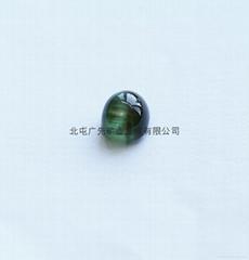 新疆阿勒泰产绿猫眼碧玺裸石(椭圆形)七夕优惠款