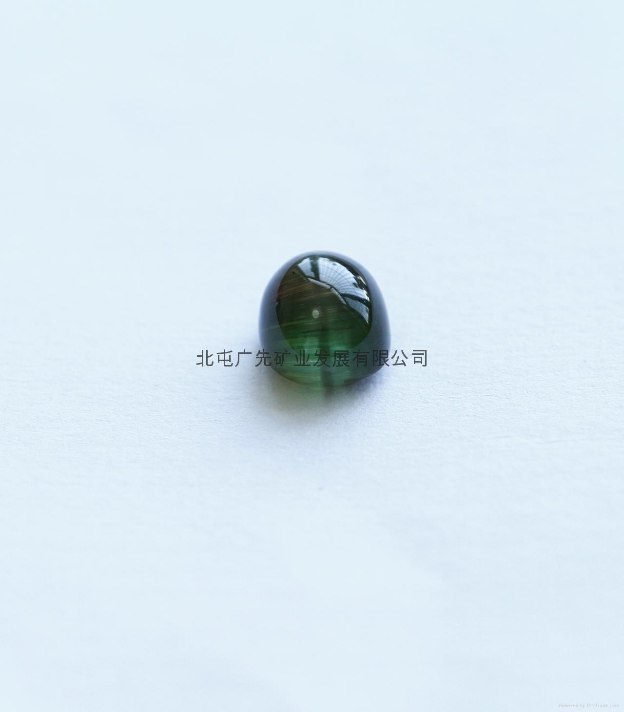 新疆阿勒泰产绿猫眼碧玺裸石(椭圆形)七夕优惠款 3