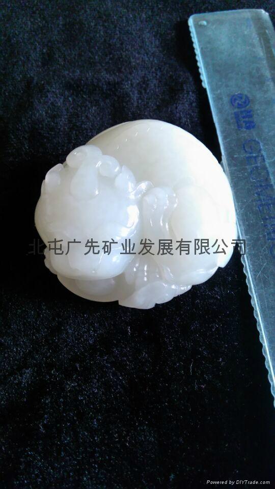 新疆和田產優質天然和田玉籽料原石雕刻手把件(國慶活動款) 2
