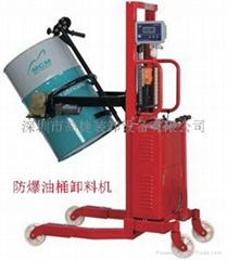 供應防爆油桶卸料車
