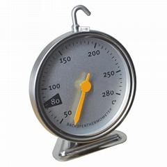 工厂贴牌烤炉烤箱发酵箱温度计高精度食品不锈钢温度计挂式T803