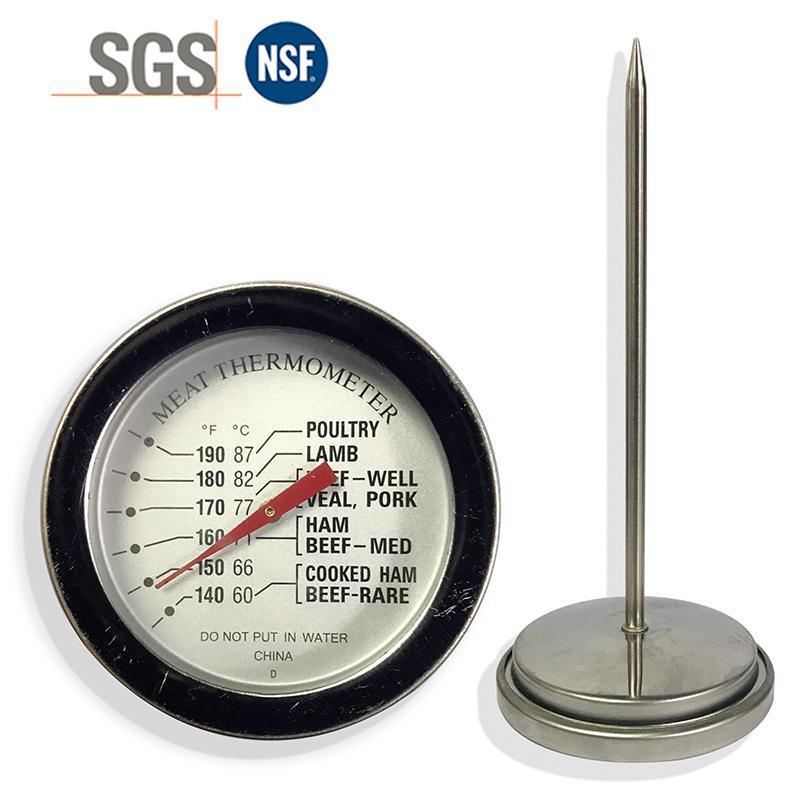 探針油溫計烤箱烤爐燒烤測溫表高精度不鏽鋼材質直徑54mm工廠生產 1