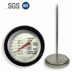 探針油溫計烤箱烤爐燒烤測溫表高精度不鏽鋼材質直徑54mm工廠生產