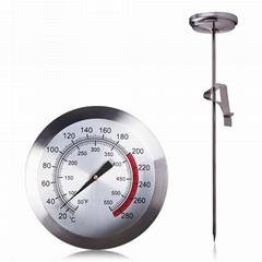 油炸温度计液体水温计烤肉温度计插入式温度计探针温度计