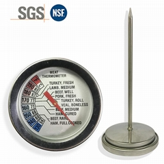 烧烤测温计探针温度计双金属探针温度计食品探针温度计