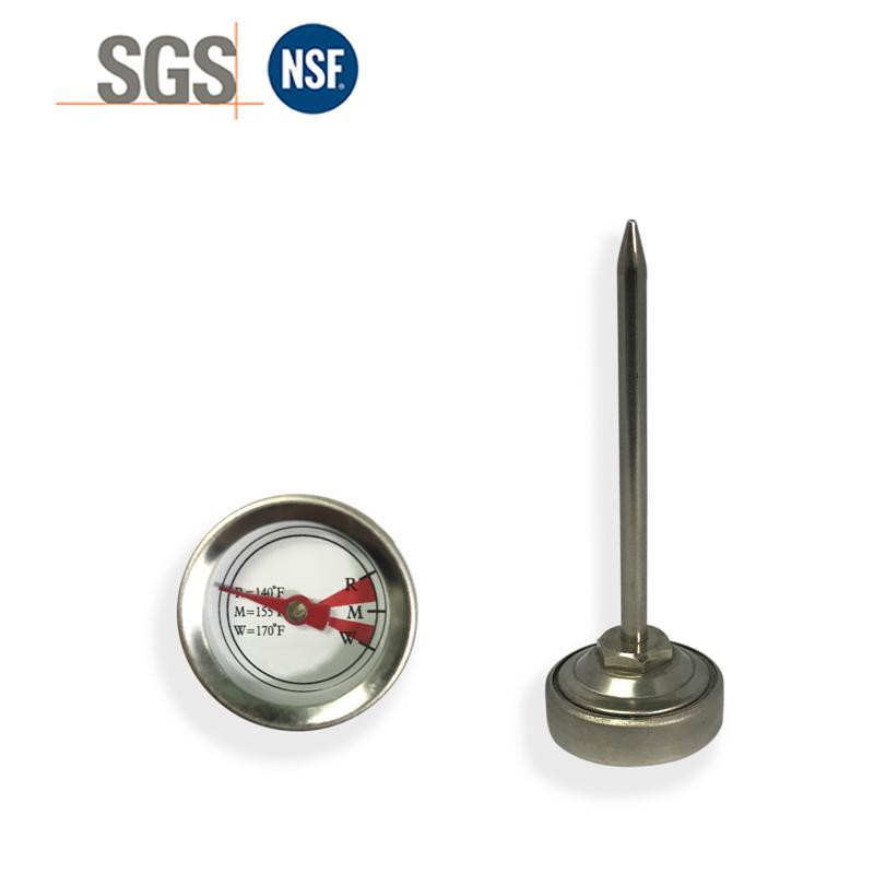 吉利 食品温度计探针烤肉温度计插入式食品温度计不锈钢材质 1