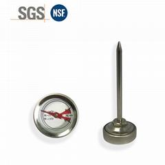 吉利 食品溫度計探針烤肉溫度計插入式食品溫度計不鏽鋼材質