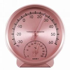 吉利 金屬鋁合金材質溫濕度計高精度溫度計藥房濕度計