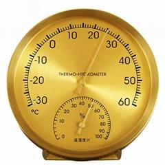 吉利 金屬純銅外殼溫度計機械式