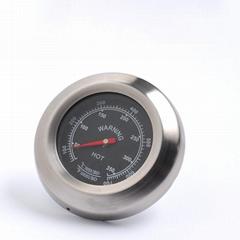 不鏽鋼外殼烤箱溫度表測高溫烤爐烤箱溫度計高精度機芯指針式