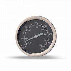 吉利 烤炉火炉温度表高精度机芯烤箱温度计带螺牙固定烤炉上使用