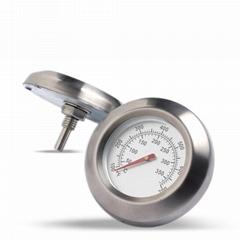 吉利 双金属烤炉温度表不锈钢外壳烤箱温度表工厂生产贴牌定做