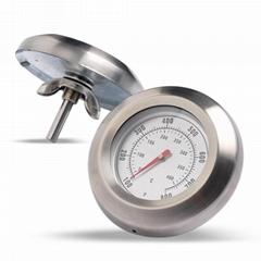 工厂生产双金属温度计烤箱烤炉温度表不锈钢外壳冲压件成型贴牌