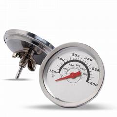 生产火炉温度计烧烤炉温度表蝶形螺母固定食品级304不锈钢外壳