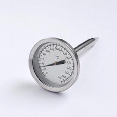 雙金屬探針溫度計內置烤爐烤箱溫度計指針式支持logo貼牌定做
