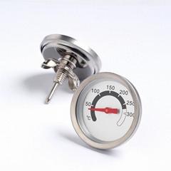 双金属温度计烤炉指针双金属温度表 食品烤炉管型温度计