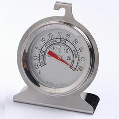 冰箱温度计冰柜冷库药箱药房温度计高精度不锈钢外壳测冷温温度表