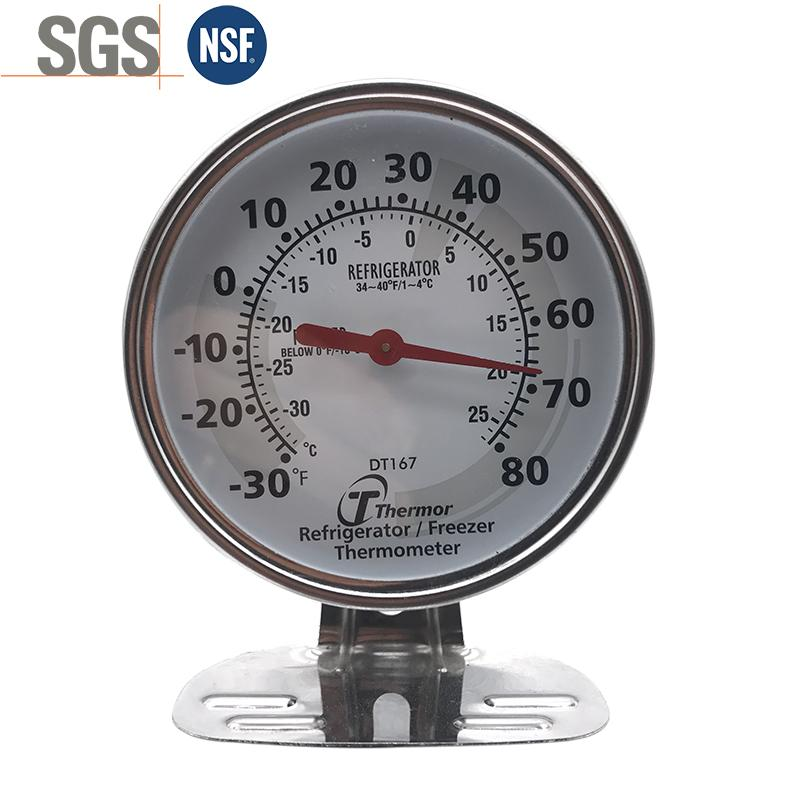 Bimetal refrigerator thermometer Stainless steel pointer thermometer 1