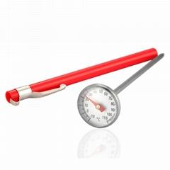 吉利 探針溫度計測水溫油溫液體咖啡廚房食品測溫計烤肉測溫計