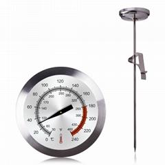食品油鍋溫度計加長探針溫度計油炸溫度計高精度測液體溫度表