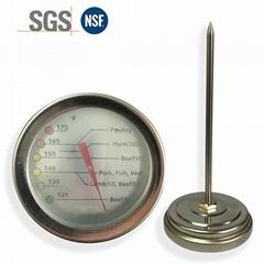 工廠生產溫度計油溫計水溫計高精度指針式溫度表304不鏽鋼材質