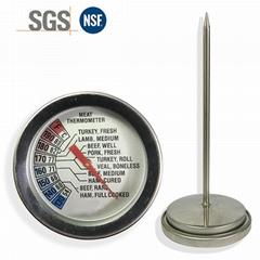 厂家支持logo定制生产 食品探针温度计针式温度计