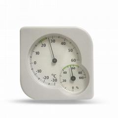 吉利 臺式壁挂指針式溫濕度計高精度干濕計藥房倉庫濕度計