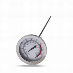 食品温度计加长探针测奶温水温表烘焙指针式家用高精度温度计