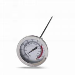 食品溫度計加長探針測奶溫水溫表烘焙指針式家用高精度溫度計