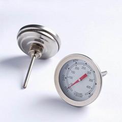 吉利 烤炉温度表不锈钢双金属温度计温度计 BBQ pizza烧烤工具