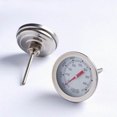 oven thermometer stainless steel bimetallic thermometer BBQ pizza barbecue tool