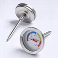 Oven oven thermometer probe bimetallic thermometer kitchen tool