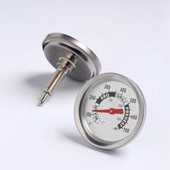 供应不锈钢烤炉温度计双金属温度计BBQ烧烤炉温度计插肉温度计
