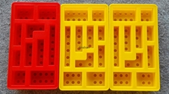 eco-friendly hot selling silicone blocks lego ice cube tray