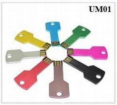 Metal Key shape USB flash pen drive