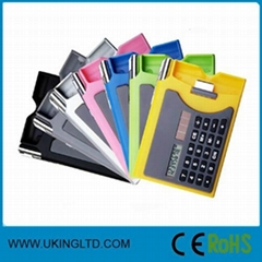 advertising gifts:Calculator with ball pen and notebook