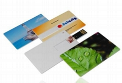 Full color printing credit card USB flash pen drive