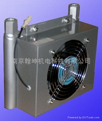 Small hydraulic station air cooler