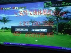 韓國純進口SCREEN ZON 左右手高爾夫模擬器