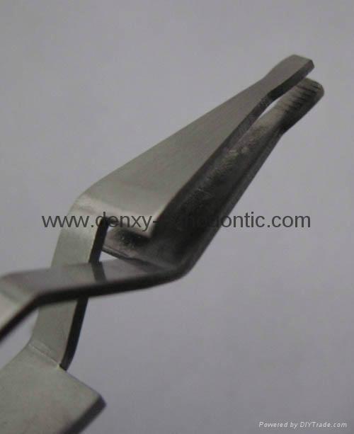 Bracket holder- dental bracket tweezer orthodontic instrument