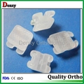 Dental brackets Orthodontics Mesh  base ceramic bracket