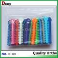 orthodontic dental elastics mixed colors