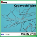 Orthodontic Kobayashi ligature wires